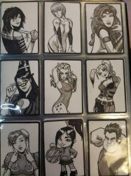 DOJ-CON ACEO cards 10-18 by SavantGuarde