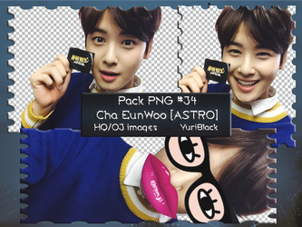 Pack PNG #34 - Cha EunWoo [ASTRO] |01| by YuriBlack