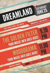 Dreamland - Flyer template by isoarts2