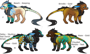 Vernid Adoptables - Litter 1 Pair 1 -OPEN 3/4- by TwinWolfSister