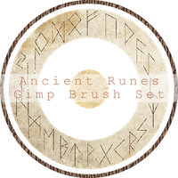 Ancient Runes Gimp Brush Set by phoenixness