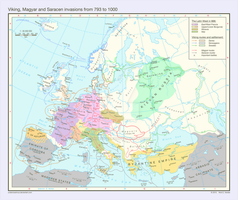 Viking, Magyar and Saracen invasions, 793 - 1000 by Undevicesimus