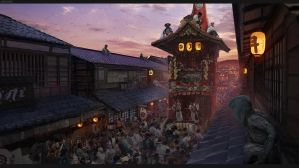 Assassin's Creed Japan Concept Art - Gion Festival by W-E-Z