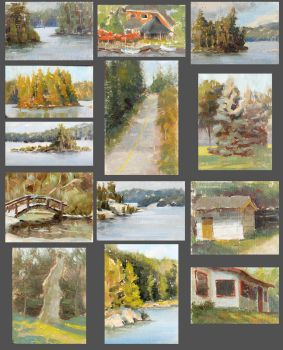 Tiny Color Studies by MarcoBucci