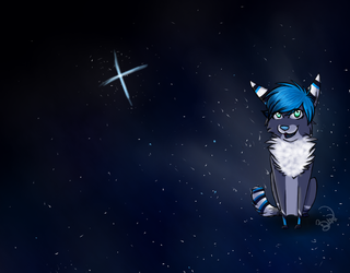 Zip is in the galaxy! by ZipTheArtsyFox