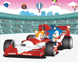 New Sonic The Screensaver-Grand Prix 2/2 by Linkabel32