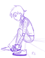 Sitting Down Sketch For levelinfinitum by 11newells