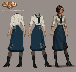 Bioshock: Infinite - Young Liz final concept by shoomlah