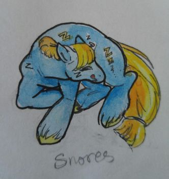 OC pony: Snores by QueenAnneka
