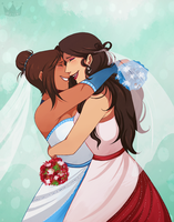 Korrasami Wedding Day by PrincessHarumi