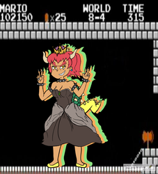 Bowsette-Red Hair with tanned skin. by PenciltipWorkshop