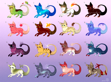CLOSED free cenic adopts by Minteen