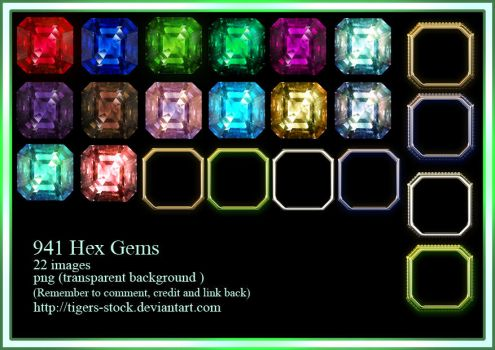 941 Hex Gems by Tigers-stock