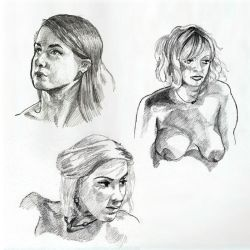 Misc Portraits in 4B pencil by Naughty-UK