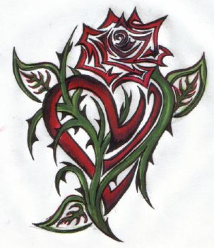 Heart Within a Rose by ReaperXXIV