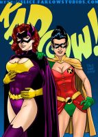 Slice of 408: Batgirl/Huntress and Robin by DaggerPoint
