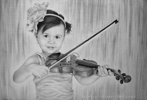 Violinist by Eluany