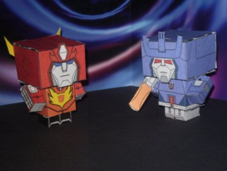 Cubee's - Hot Rod v Galvatron by CyberDrone