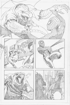 Spider-Man vs The Lizard - pg2 by self-replica