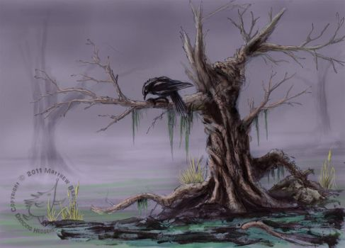 Raven on the moors by cayleycom