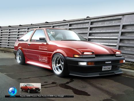 Toyota AE86 Trueno Twin Turbo by CapiDesign
