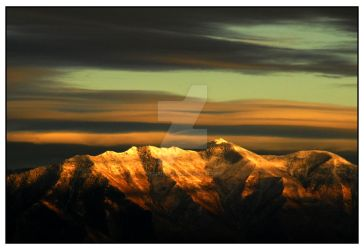 Mountains by Sp. Fork Sunset by houstonryan