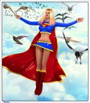 Supergirl costume for v4 by Terrymcg