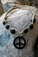 Peace Hemp Necklace by clroavieg