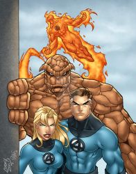 Fantastic Four COLORED by LucasAckerman