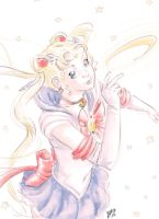 Sailor Moon fan-art by X-AEL
