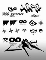 random dP icons, logos by dopepope