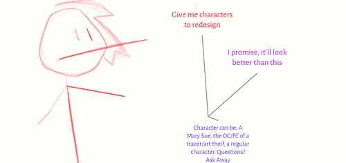 I want to redesign, so give me some characters