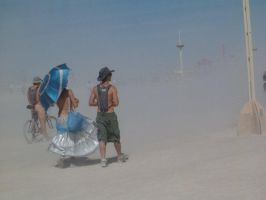 Promenade in a dust storm by scixual