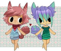 Chibi Tailmouth Couple [closed] by DeadEndAdopts