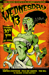 Wednesday 13  2011 Gig Poster by luvataciousskull