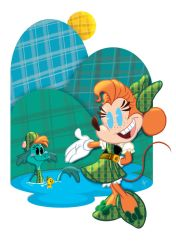 Art of Minnie Mouse: Loch Ness Minnie by jeftoon01