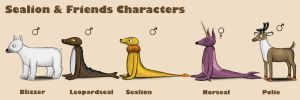 Sealion  Friends Characters by Louisetheanimator