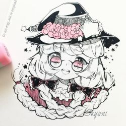 Inktober Witch by Skyuni