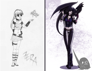 .:Then and Now:. by EvilZera