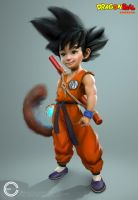 Kid Goku (new) by Carl-Ellistrator