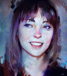 Angel Olsen Colour Study by AaronGriffinArt