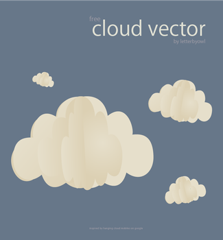 Cloud Vector [ EPS ] by letterbyowl