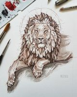 Lion portrait by MsLydix