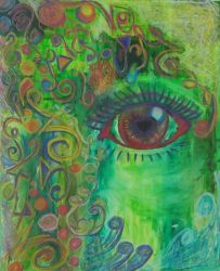 The Electricolorated Eye by littlenikita