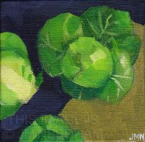 Sprouts on Brown Paper by JMNeedhamArt