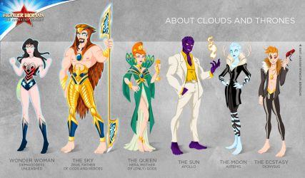 Wonder Woman Cartoon Show: About clouds and throne by tremary