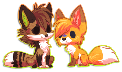Chibi Diffy and Poonie by griffsnuff