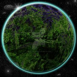 Planet 3 With Starfield