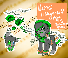 Hideyoshi Reference Sheet 2014 by snickIett