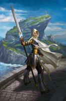 Elspeth, Sun's Champion by ericDeschamps